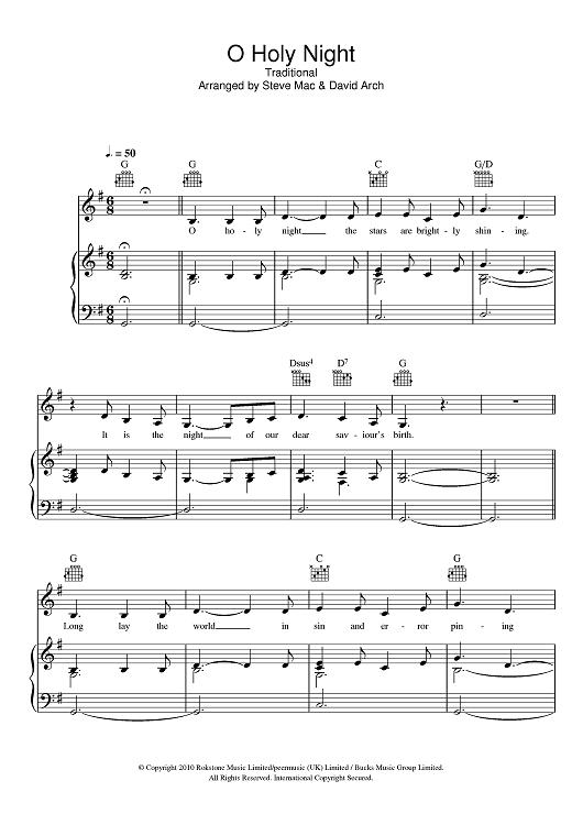 O Holy Night | O holy night, Holy night, Christmas sheet music