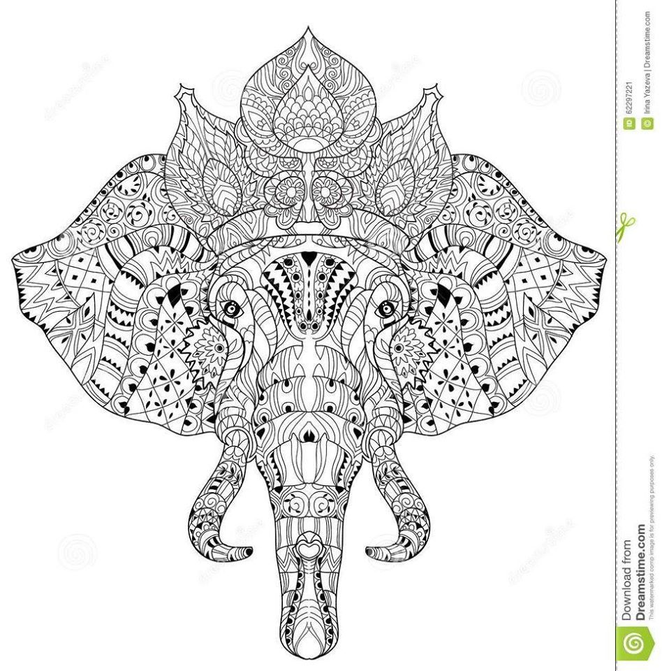 Explore Sketch Background Elephant Face And More