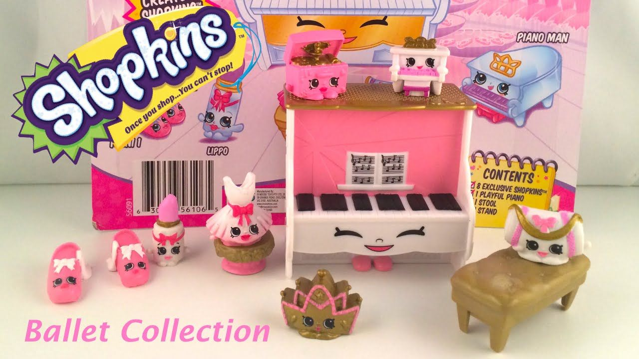 SHOPKINS Fashion Spree BALLET Collection Unboxing