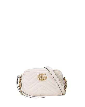 a418707b55a3 Gucci GG Marmont Mini Matelassé Camera Bag, White | all i need ...