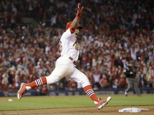 Wong homers in 9th, Cards edge Giants to tie NLCS Stl