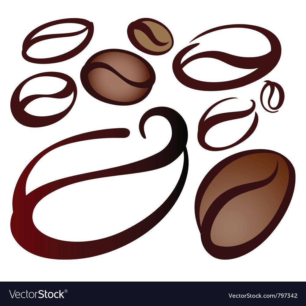 Coffee beans royalty free vector image vectorstock ad