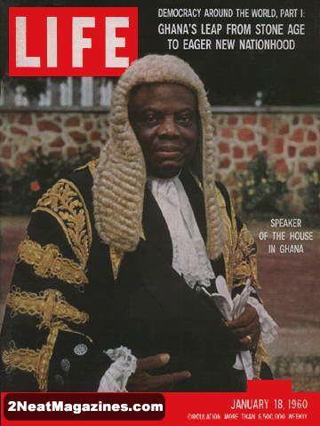 Life Magazine January 18, 1960 : Cover - Ghana's new leader, Kwame Nkrumah.