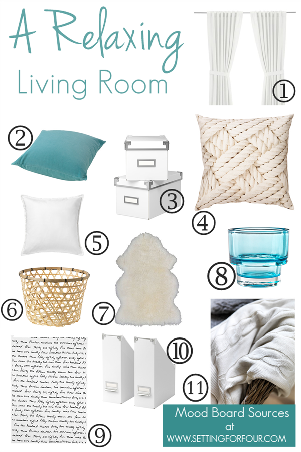 A QuickandEasy Living Room Makeover The Plan Mood Board
