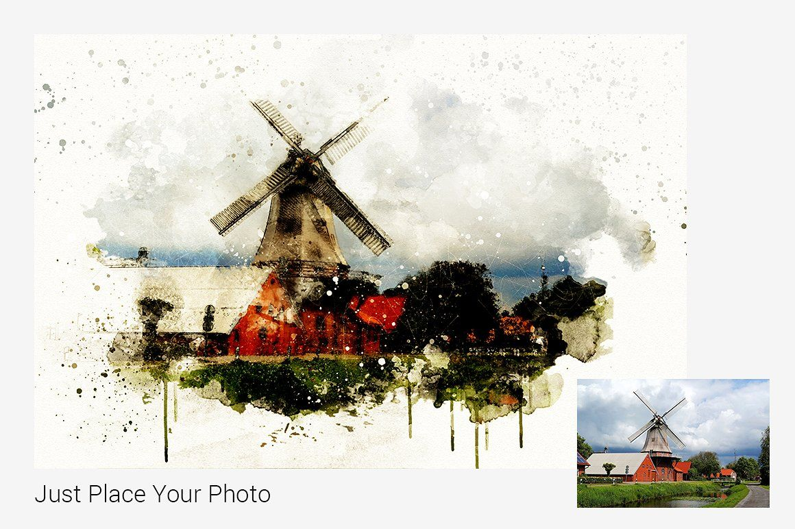 Watercolor Photoshop Mock Ups File Psd Dpi Objects Watercolor