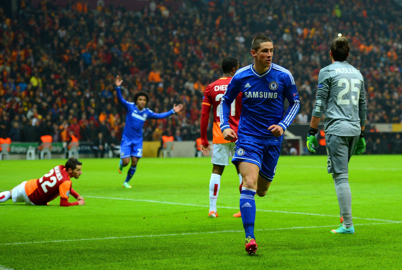 Fernando Torres of Chelsea FC against Galatasaray