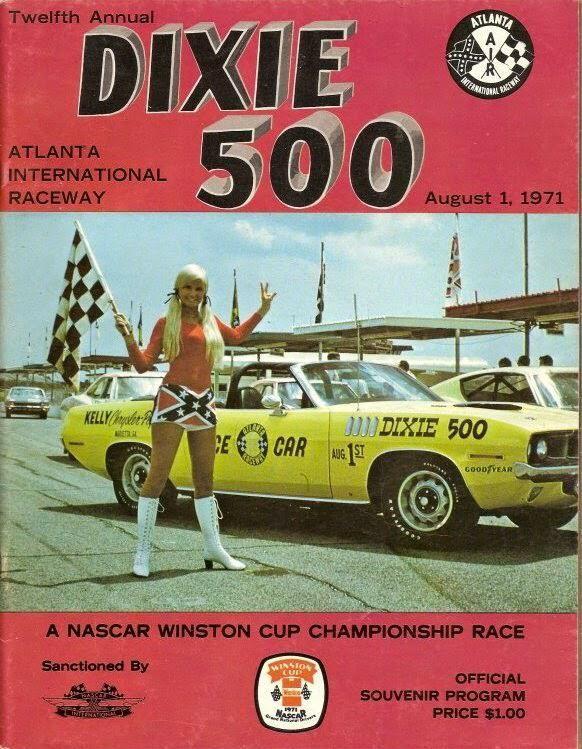 NASCAR Dixie 500 program (1971 Atlanta)   Mustang   Pinterest   Marcos