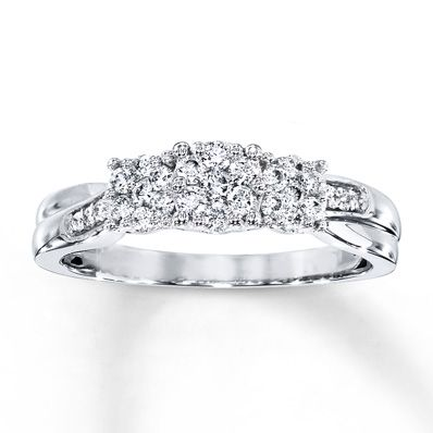 b41b76b3e7cc3c Previously Owned Diamond Ring 1/3 ct tw 10K White Gold | Products ...