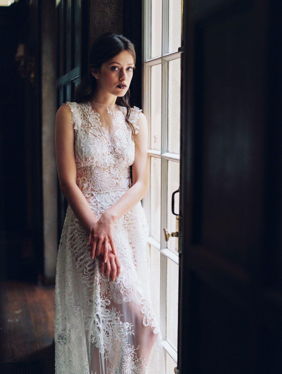Claire pettibone four seasons wedding dress collection winter