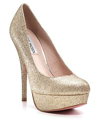 Gold glitter heels, Glitter heels
