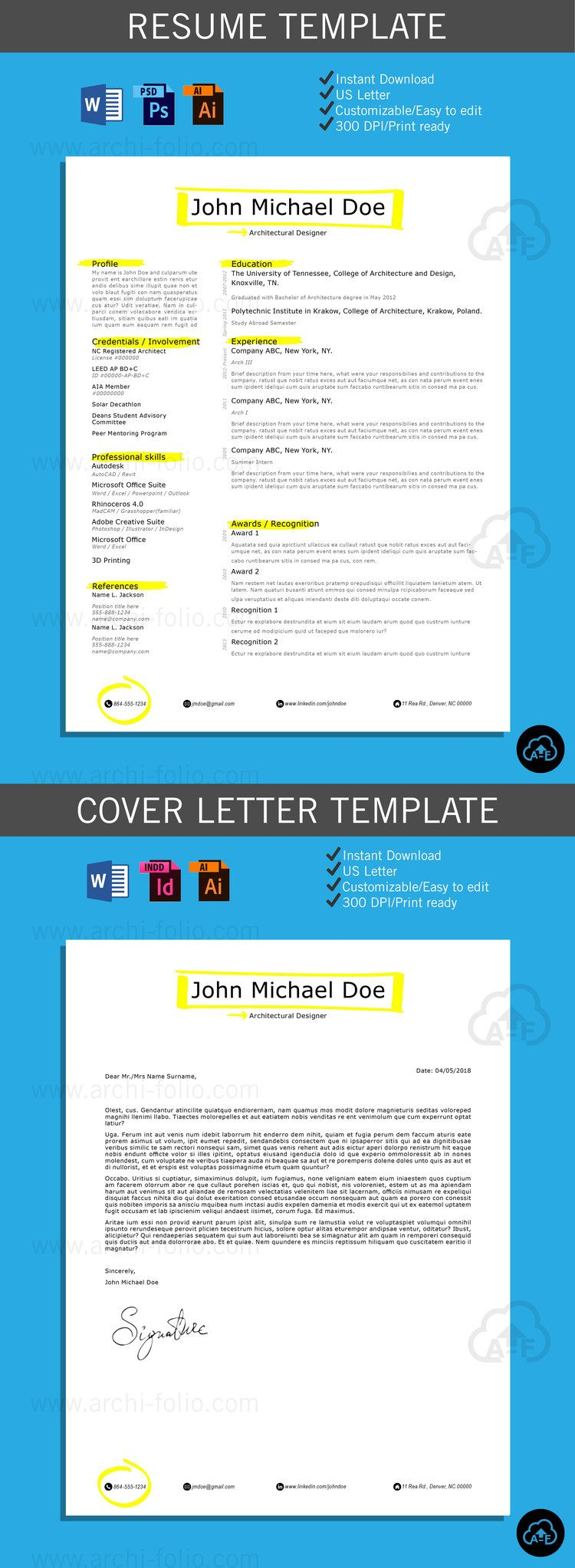 Professional Graphic Design Resume Resume  Highlighter 2 Theme Customizableprofessional .
