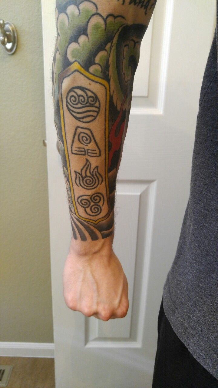 Avatar with Japanese traditional waves Avatar tattoo