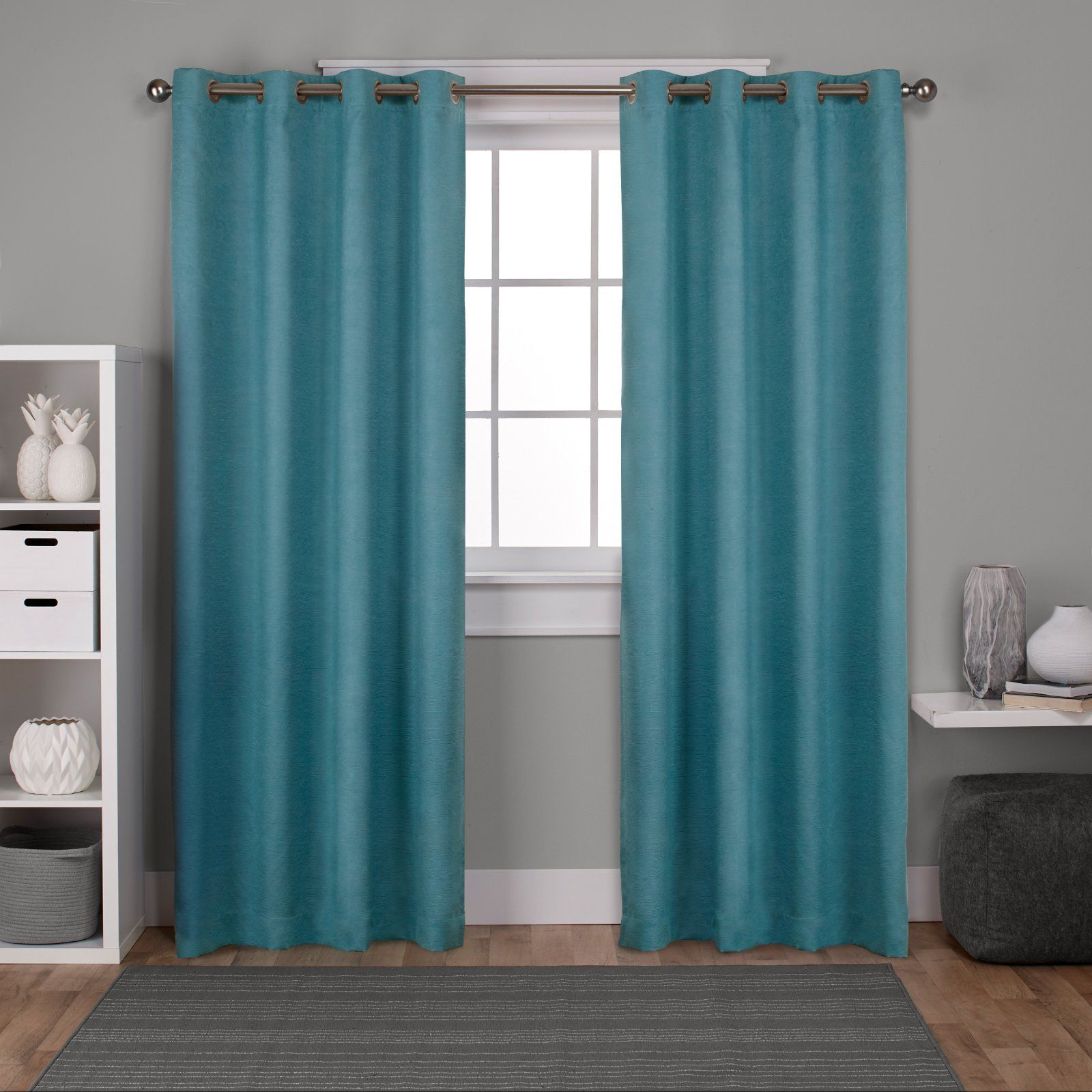 Exclusive Home Oxford Textured Sateen Thermal Window Curtain Panel