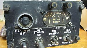 Z51 LOCKHEED ELECTRA DATEM FUEL TRIM PANEL