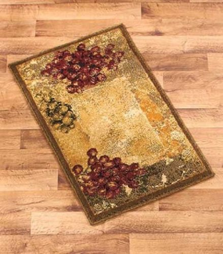 Accent Rug Vineyard Grape Grapes Tuscan Rustic Home Decor 22 ...