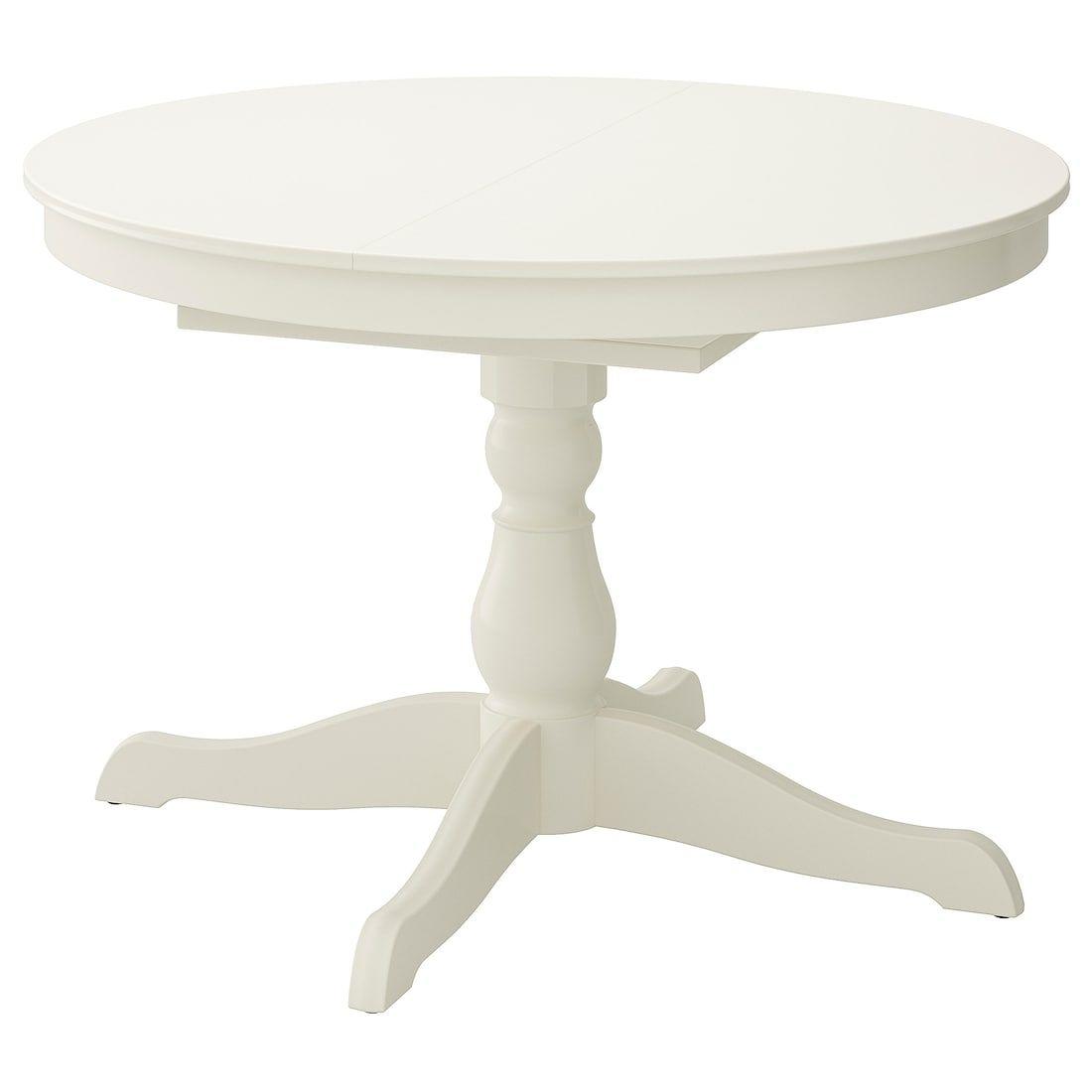 "INGATORP Extendable table, white, Max. length: 61"" - IKEA"