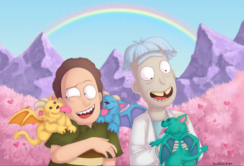 Rick And Morty X Jerry Smith Doofus Rick Rick And Morty Morty Rick