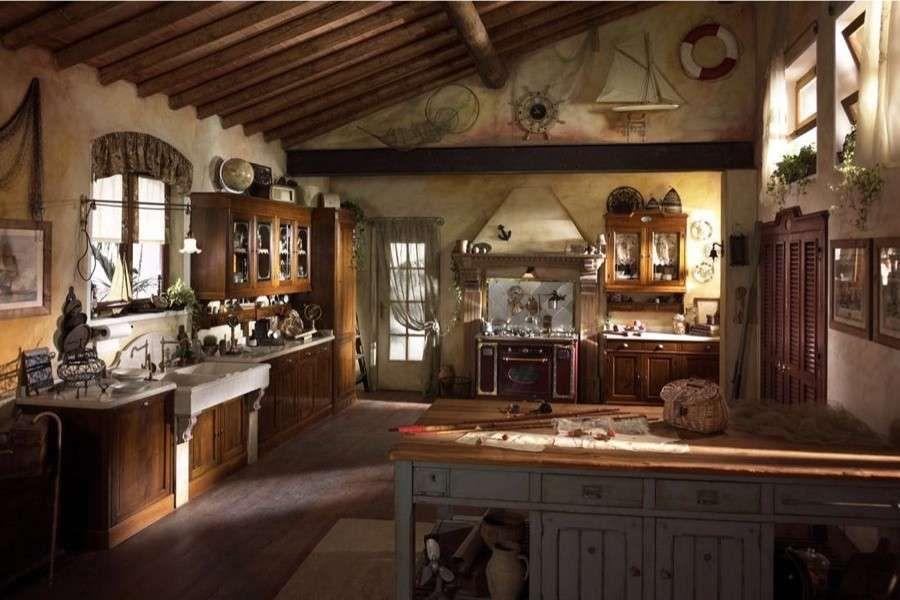 Arredare la taverna tavernetta con cucina moderna for Arredare la taverna