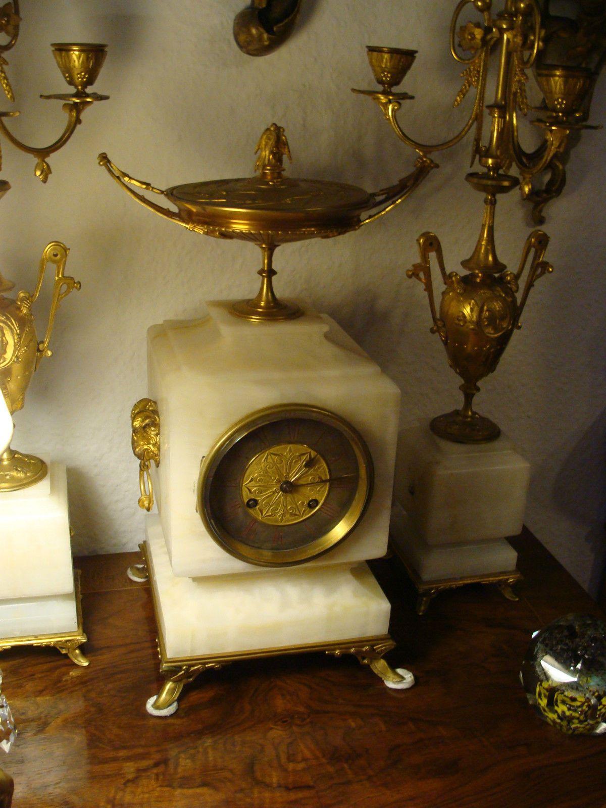 Details Zu Kaminuhr S Marti 1870 Bronze Klassizismus Marmor Beisteller Kandelaber Girandole Mit Bildern Kaminuhren Klassizismus Bronze