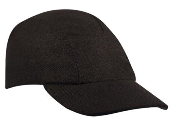Black Wool Running Cap