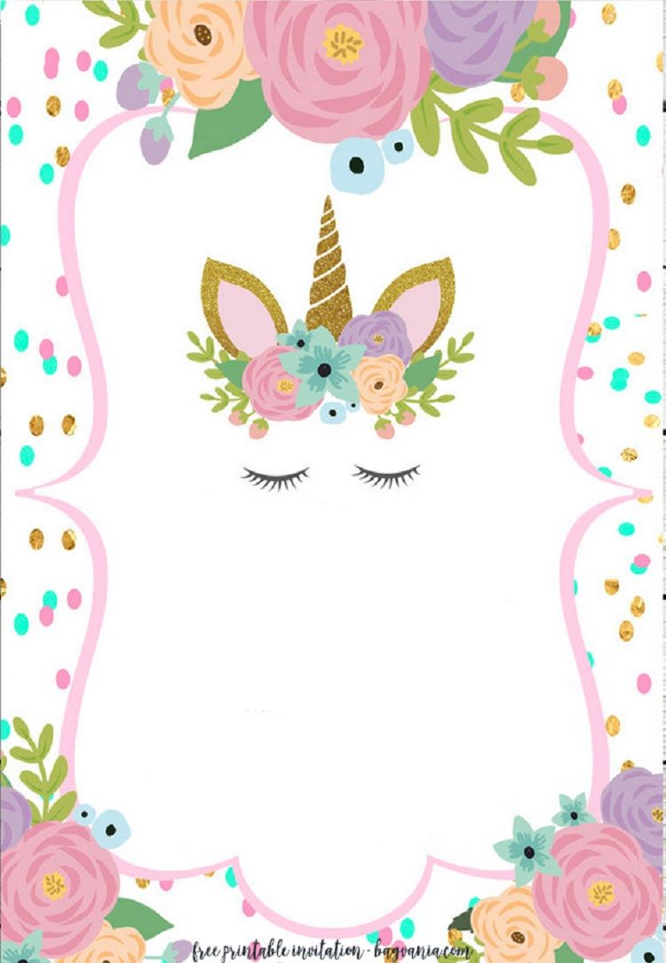 Unicorn Pamper Party Invitations