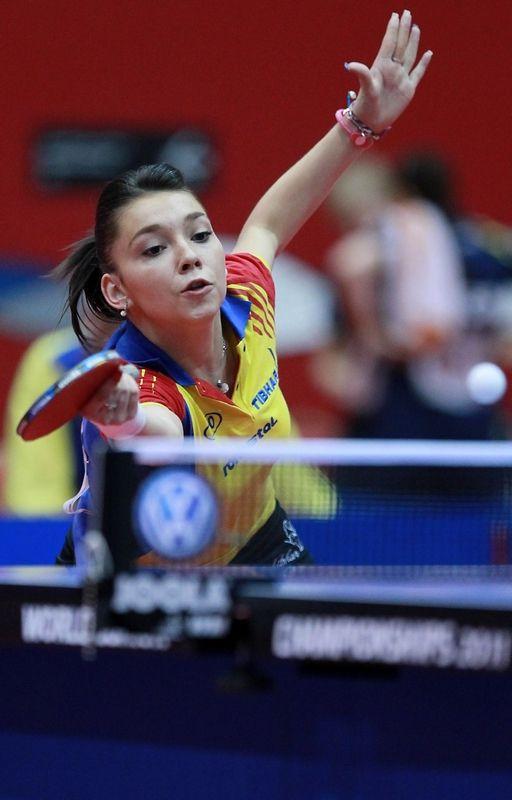 Bernadette Szocs Roumanie Tabletennis Hwld Asiancentrewoodgreen Table Tennis Tennis Champion Table Tennis Player