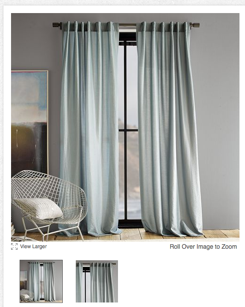 Curtains For A Grey Blue Walls
