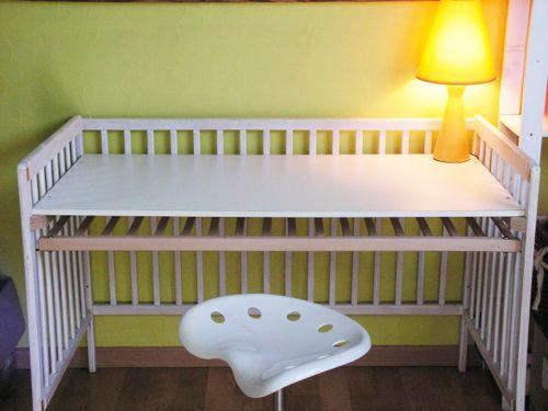 reciclar cuna berço   decor   Pinterest   Crib, Crib desk and ...