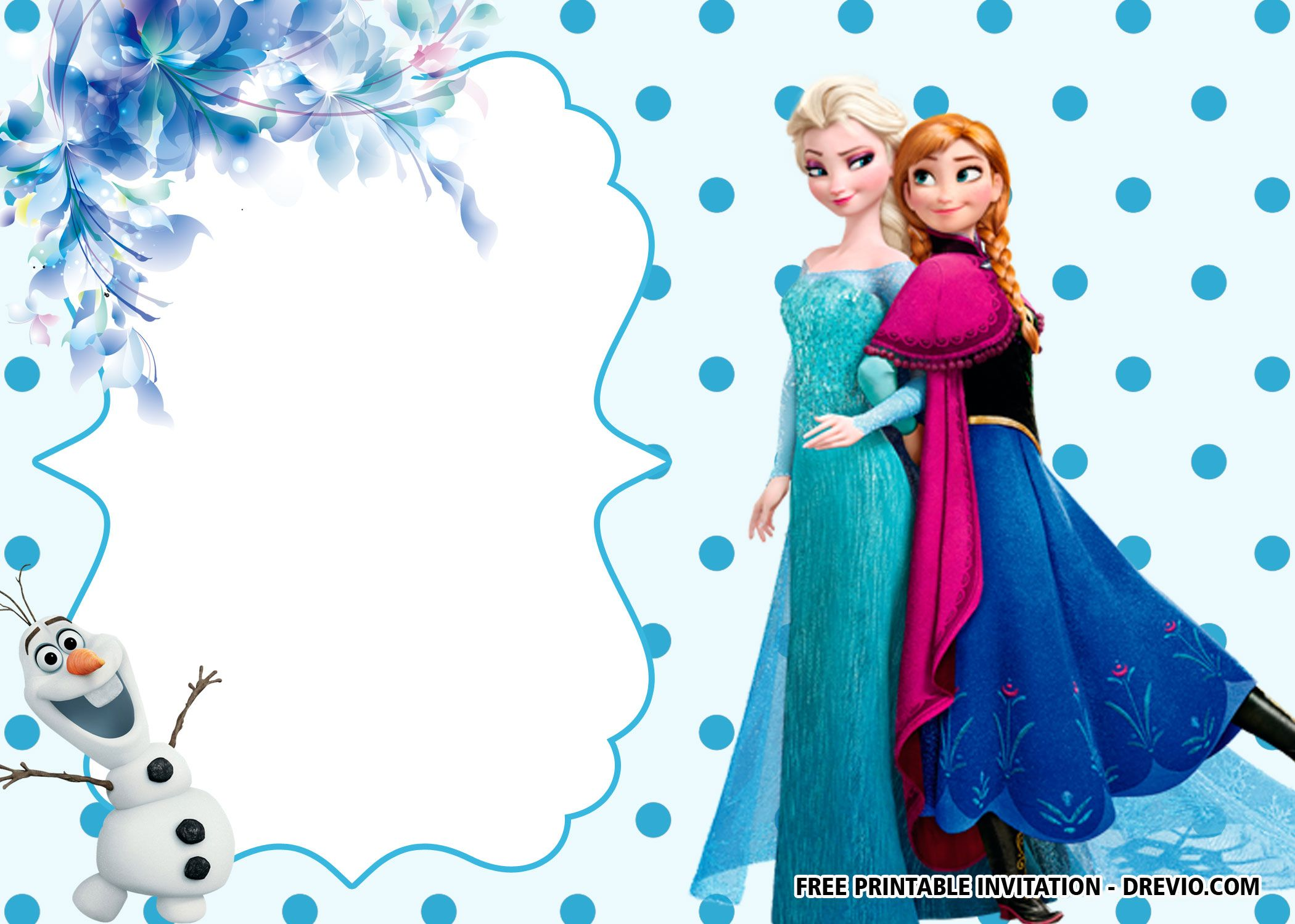 Free Printable Frozen Anna And Elsa Invitation Templates Frozen Invitations Free Printable Birthday Invitations Printable Birthday Invitations