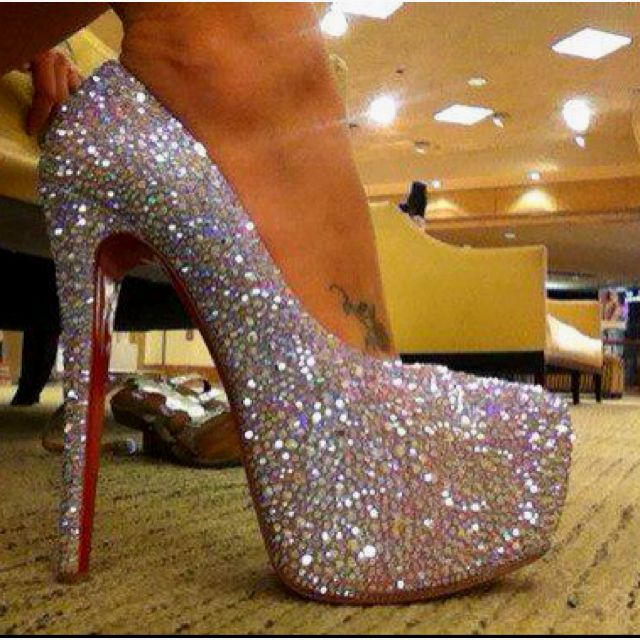 61772a91585 Red Bottom Christian Louboutin Daffodil Swarovski Crystal Shoes ...