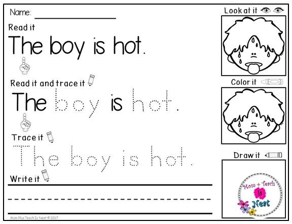 Read & Write Sight Word Sentences- Kindergarten Literacy