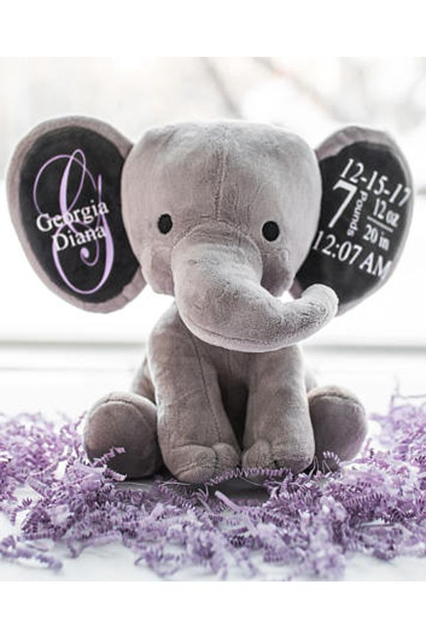 Elephant baby gift custom personalized stuffed animal new baby elephant baby gift custom personalized stuffed animal new baby gift elephant nursery decor baby name gift ideas new mom present personal negle Images