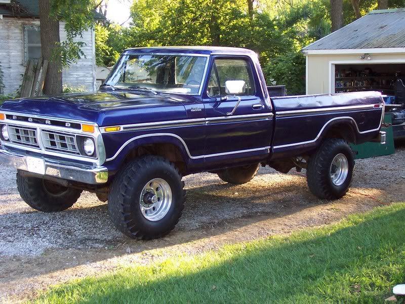 77 Highboy Blue W Racetrack Trim Classic Ford Trucks Lifted Ford Trucks Trucks