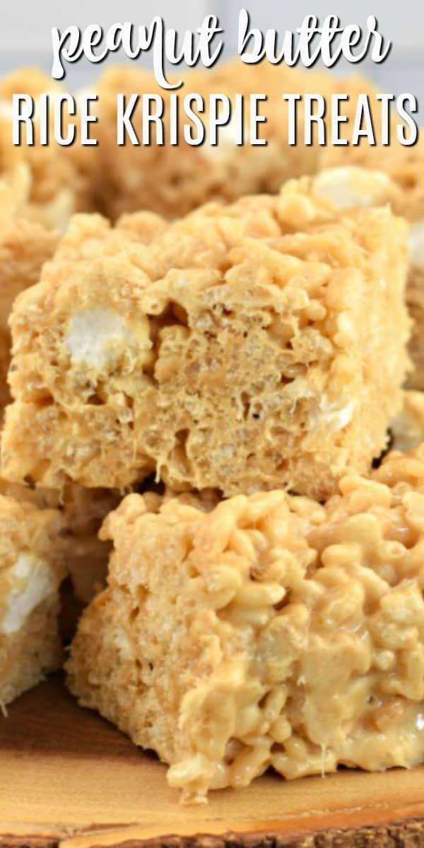 The BEST Peanut Butter Rice Krispie Treats Recipe