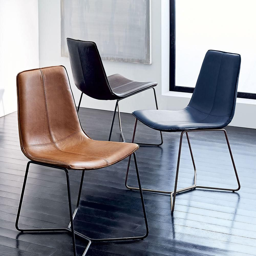 MidCentury Upholstered Dining Chair Velvet west elm