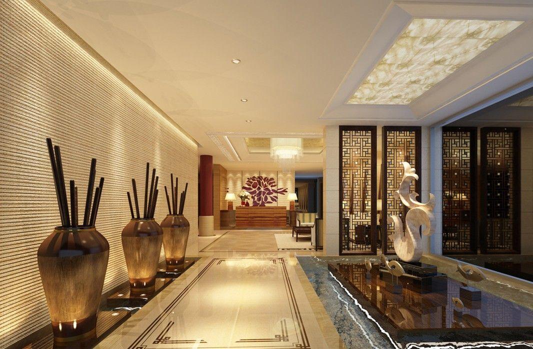 Swimming pool corridor idea chinese corridor wall for Hotel home decor