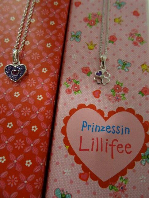 LILLIFEE: Herz & Kleeblatt Kinderanhänger Lila / rosa