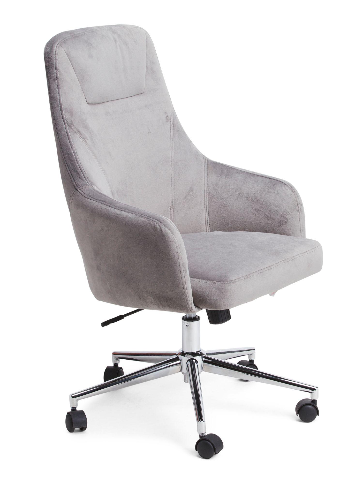 Marigold Velvet Office Chair Velvet Office Chair Retro