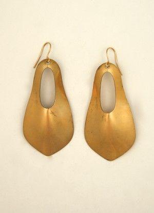 exvoto vintage brass earring