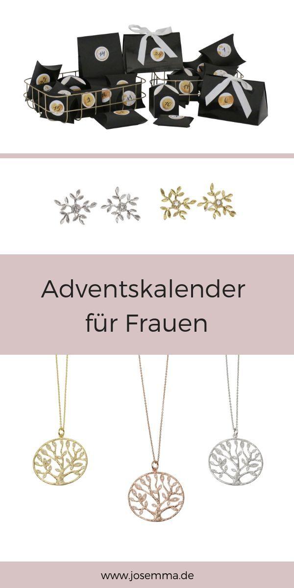 Adventskalender für Frauen, gefüllt mit Schmuck. Sei es in Gold, Silber oder R…