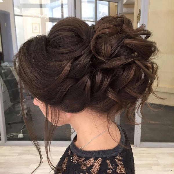 Long wedding updos and hairstyles from Elstile peinados