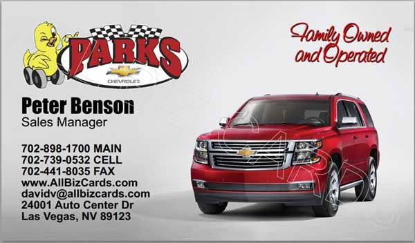 2014 Chevrolet Tahoe Business Card Id21051 Chevrolet Tahoe Chevrolet Cards