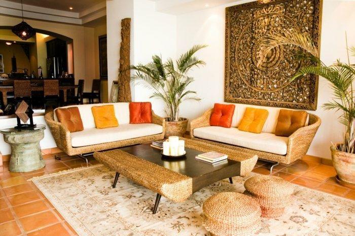 Vintage Teppiche und Tapeten für kreative Interieurs Haus, Salons