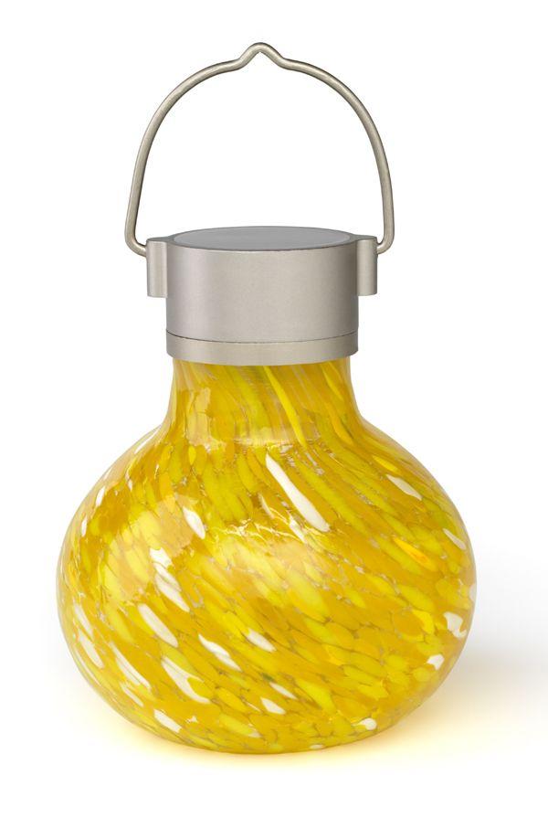 Solar Tea Lanterns 5 Handn Glass, Allsop Home And Garden Solar Tea Lantern