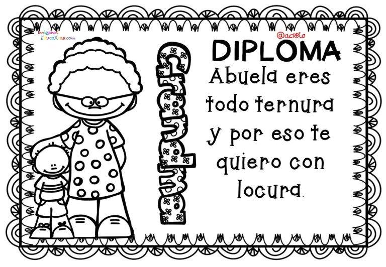 Diplomas Para Colorear Del Dia De Las Madres 10 De Mayo 4 Manualidad Para Los Abuelos Dia Del Abuelo Dia De Las Madres