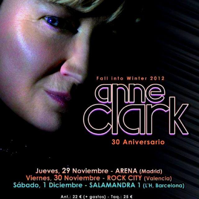 Anne Clark Spain Tour