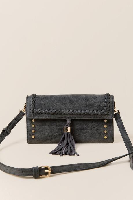 e10598711f7 Barton Braided Tassel Wallet Crossbody   Handbags   Tassels ...