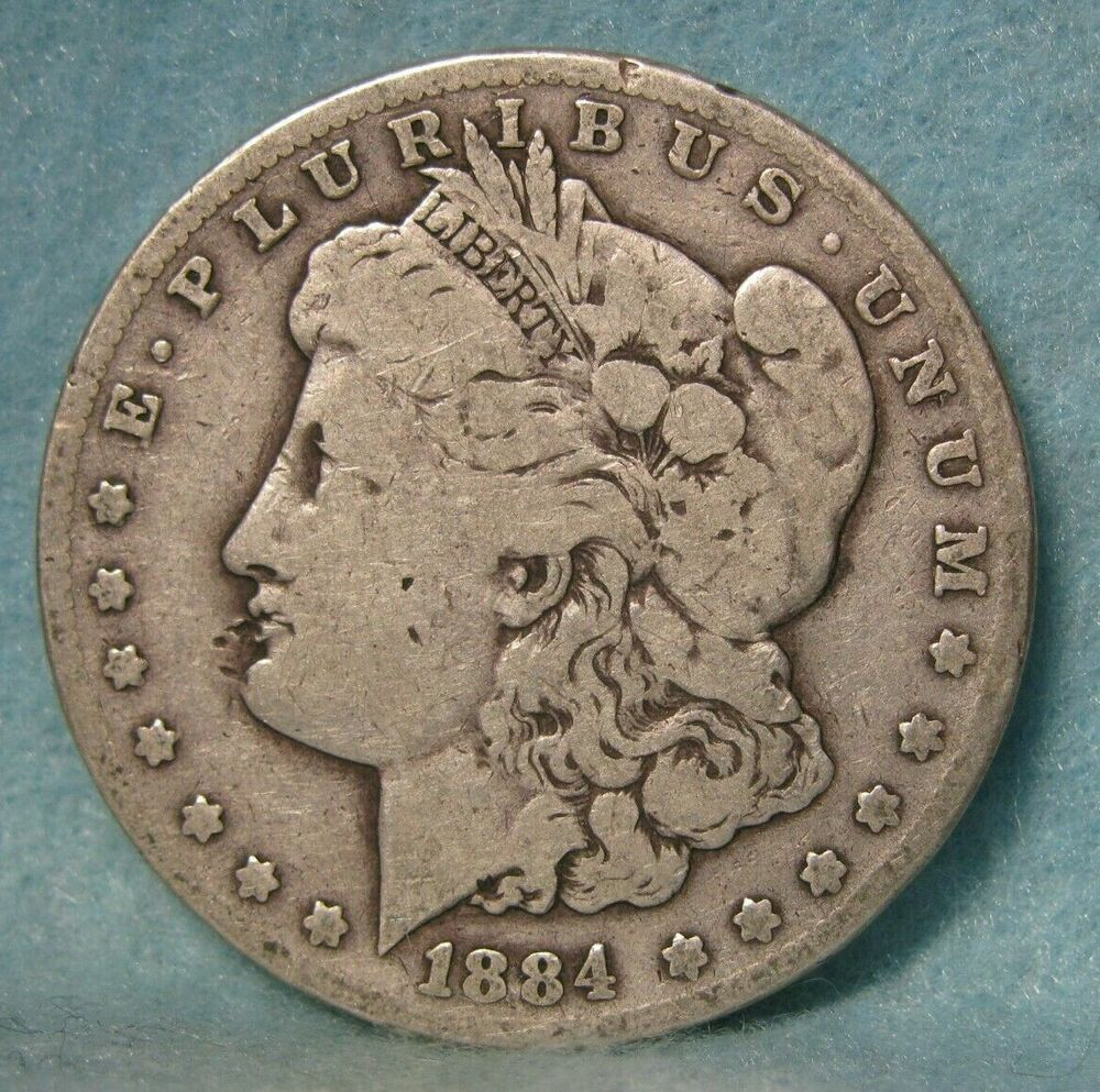 1884 Cc Carson City Mint Morgan Silver Dollar United States Coin Morgan Silver Dollar Silver Dollar Coins