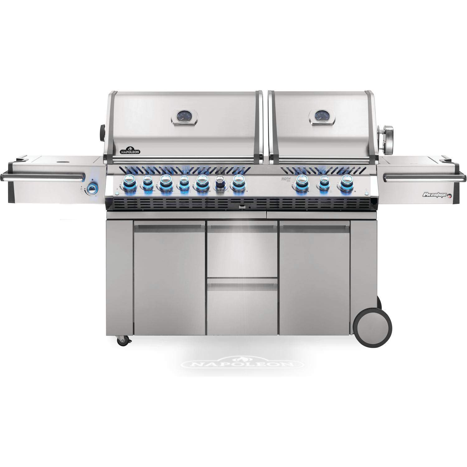 Napoleon Prestige Pro 825 Natural Gas Grill With Infrared Rear Burner Double Infrared Sear Burner Side Burner Pro825rsbinss 3 2019 Propane Gas Grill Grilling Best Gas Grills