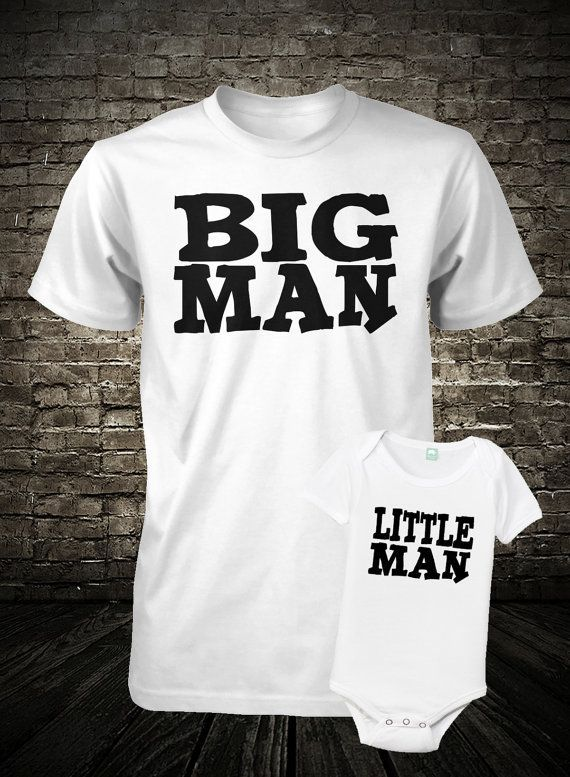 Make custom tshirts for your big man and little man.  48d3998983501